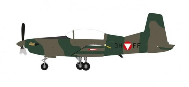 Austrian Air Force Pilatus PC-7 Turbo Trainer Porter Fliegertruppenschule (Flight School) Herpa 580526 scale 1:72