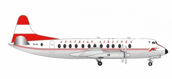 Austrian Airlines Vickers Viscount 800 Herpa 559065 scale 1:200