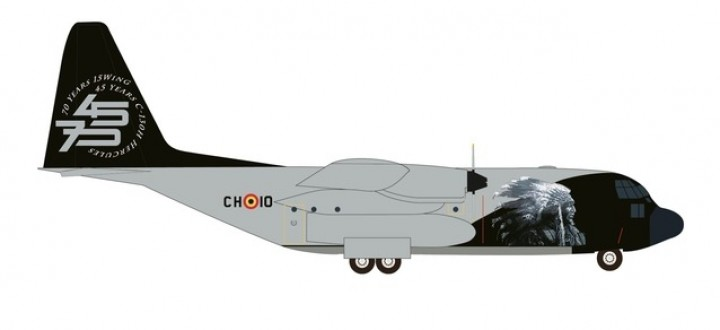 Belgian Air Force Lockheed C-130 Hercules Herpa 533379 scale 1:500
