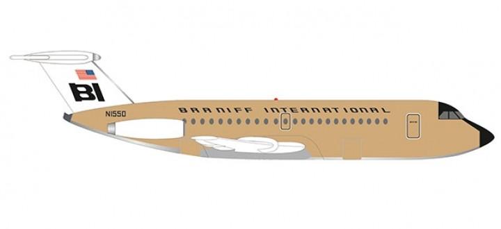 Braniff BAC 1-11-500 N1550 Jelly Bean Ochre Herpa 533003 scale 1:500