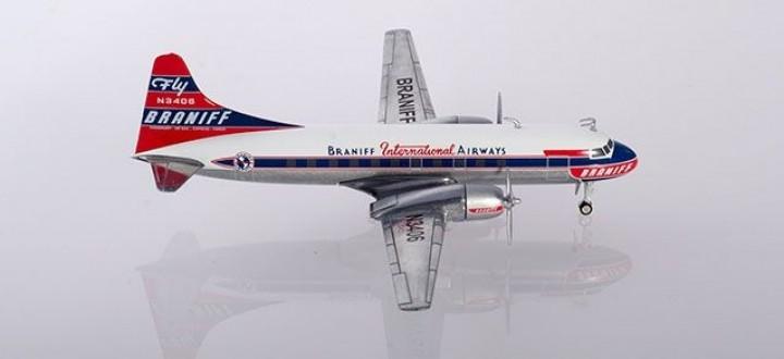 Braniff International Convair CV-340  N3406 Herpa 559621 scale 1:200