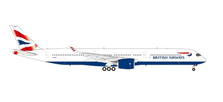 British Airways Airbus A350-1000 G-XWBA Herpa Wings 570572 scale 1:200
