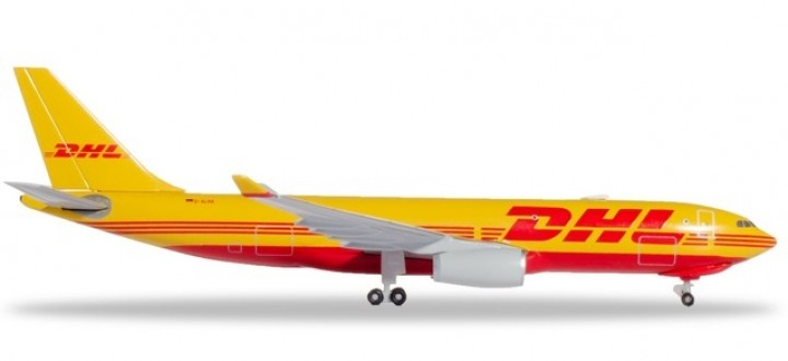 DHL Airbus A330-200F Cargo Herpa Wings die cast 532969 scale 1:500