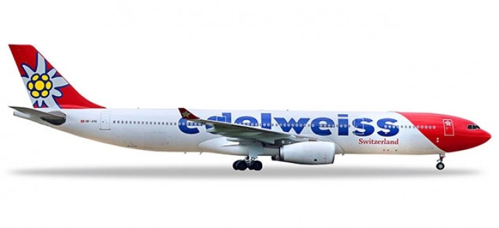 Edelweiss Airbus A330-300 HB-JHQ switzerland Herpa 558129-001 scale 1:200