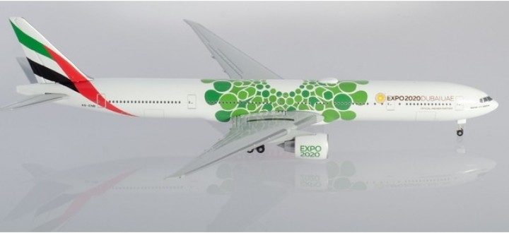 Emirates Boeing 777-300ER A6-ENB Green Sustainability Dubai Expo 2020 Herpa 533720 scale 1:500