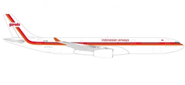 Garuda Indonesian Retro Airbus A330-200 PK-GHD Herpa 533362 scale 1:500