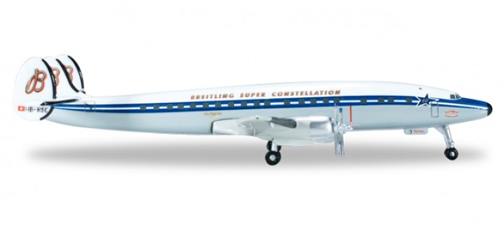 "SCFA/ Breitling Lockheed L-1049H Super Constellation ""60th Anniversary"" Reg# HB-RSC HE523035-001 Scale 1:500"