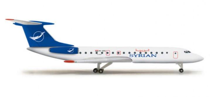 Herpa Wings Die Cast Model Syrian TU134B3 HE524988 Herpa  Item: HE524988  1:500 Scale