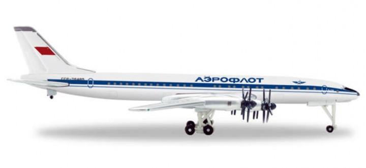 Herpa Aeroflot TU114 1970'S Livery HE526487 1:500
