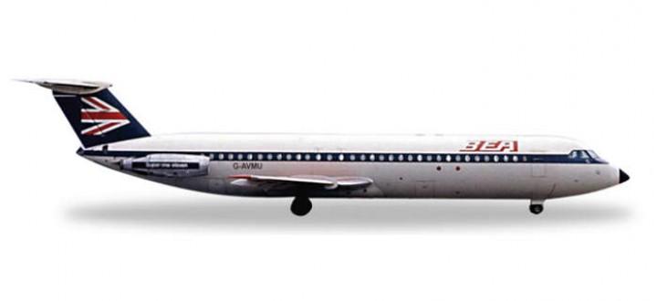Highly detailed Herpa Wings  BEA BAC1-11-500 Herpa  Reg# G-AVMU  Item: HE526531  die-cast model in 1:500 scale.