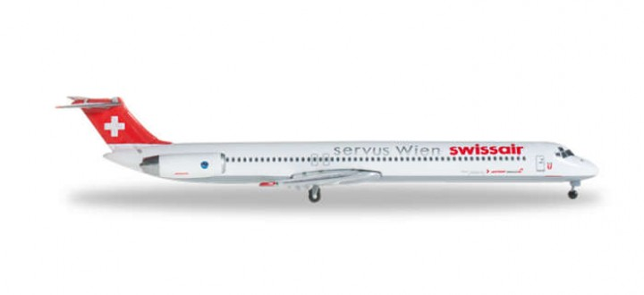 "Swissair MD-81 ""Servus Wien"" Herpa 526982 1:500"