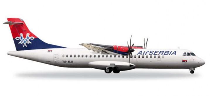 Air Serbia ATR-72-500 Reg# YU-ALU Herpa 527675 Scale 1:500