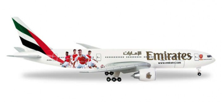 Emirates Arsenal FC B777-200E  Herpa Wings 529235 Scale 1:500