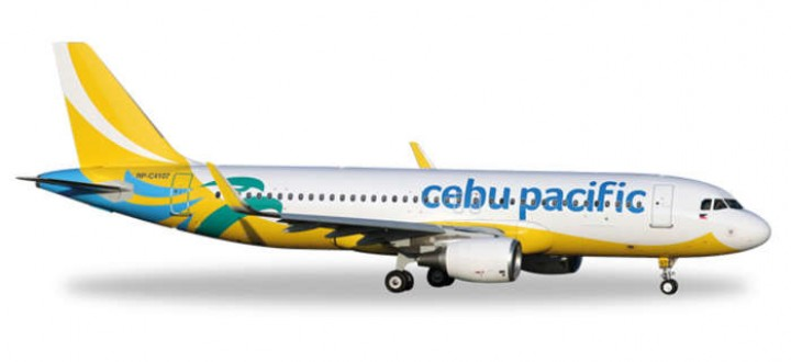 Cebu Pacific Airbus A320 Sharklets New Livery Reg# RP-C4107 Herpa 529327 Scale 1:500