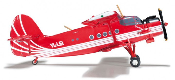 Antonov Club Aviana, AN-2 Herpa Wings 555500 die-cast model scale 1:200