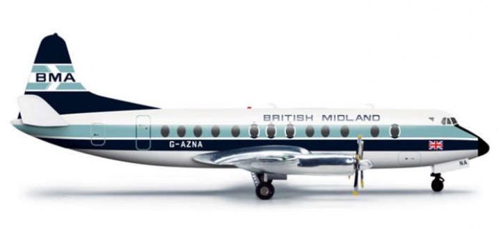British Midland Viscount 800 Reg# G-AZNA HE556118 1:200