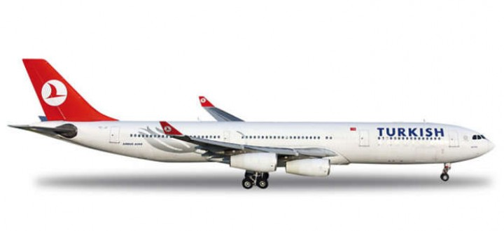 Turkish Airlines A340-300 Reg# TC-JII HE556149 1:200