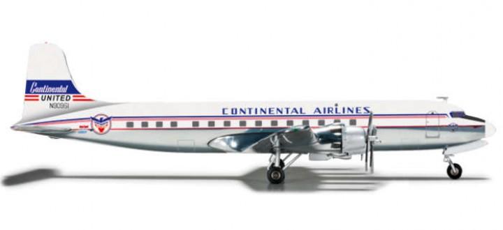 Continental DC-6B Reg N90961 Herpa Wings 556156 scale 1:200