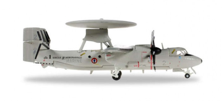 French Navy E-2C 4 Flotille Herpa Wings HE556675 Scale 1:200
