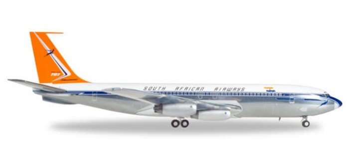 "South African Airways Boeing 707-320 Reg# ZS-CKC ""Johannesburg"" 558693 Scale 1:200"