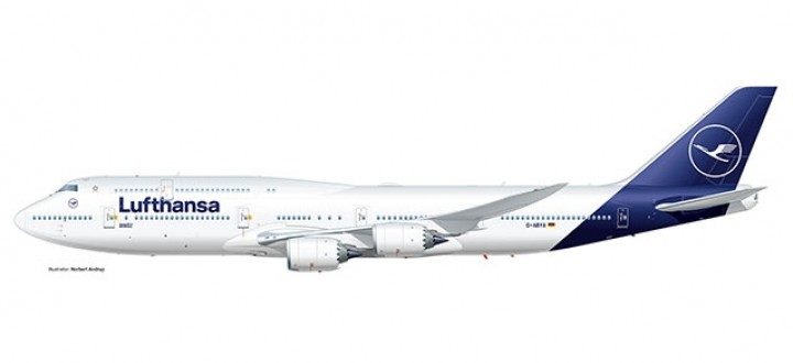 Herpa New Livery Boeing 747-8 Intercontinental Herpa 531283 scale 1:500