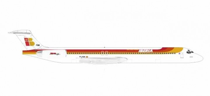 "Iberia MD-88 Reg EC-FGM ""Torre de Hercules"" Die Cast Herpa 531429 scale 1:500"