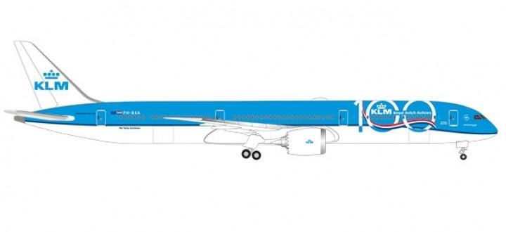 KLM 100 Years Boeing 787-10 Dreamliner PH-BKA Herpa wings 533751 scale 1:500
