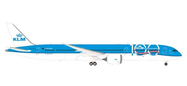 KLM Boeing 787-10 PH-BKA 100 Years large logo Dreamliner Herpa 570589 scale 1:200