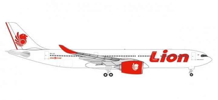 Lion Air Airbus A330-900neo PK-LEI die-cast Herpa 533676 scale 1:500