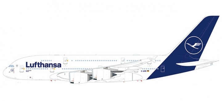 """Lufthansa Airbus A380-800 new """"Deep Blue"""" livery Herpa 559645 scale 1:200"""