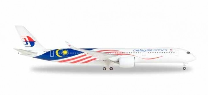Malaysia Airbus A350-900 new livery Herpa 531344 scale 1:500