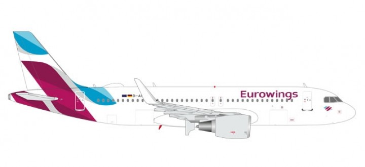Metallic Eurowings Airbus A320 w/Sat Dome Herpa 562669 scale 1:400