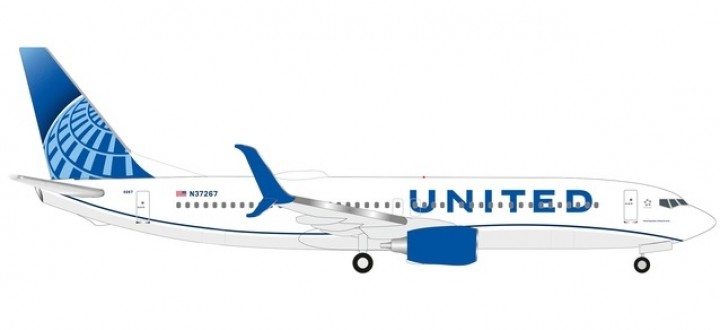 New Livery United Boeing 737Max8  N37267 Herpa Wings 533744 scale 1:500