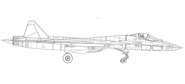 "Prototype Sukhoi T-50 (SU-57) ""White Shark"" Herpa 580441 scale 1:72"