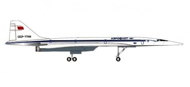 Aeroflot TU-144D Tupolev Аэрофлот CCCP-77144 Die-Cast Herpa 562720 scale 1:400