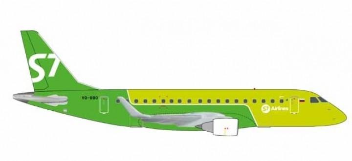S7 Siberia Embraer VQ-BBO E-170 new livery Herpa 562645 scale 1:400