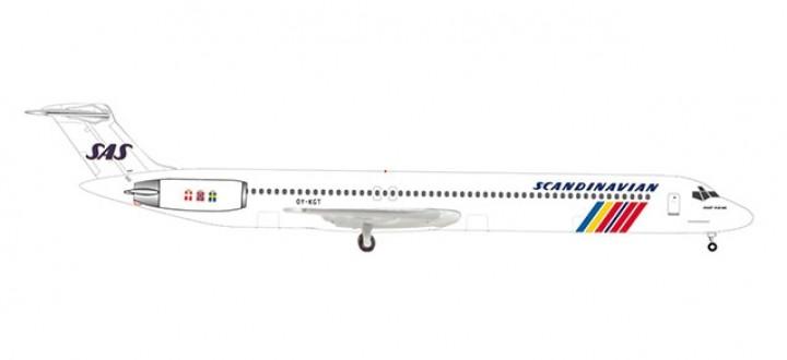 SAS Scandinavian MD-82 OY-KGT Hake Viking Herpa 533355 scale 1:500