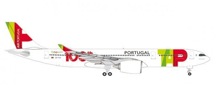 """TAP Portugal Airbus A330-900neo CS-TUI """"100th Aircraft"""" die-cast Herpa 533843 scale 1:500"""