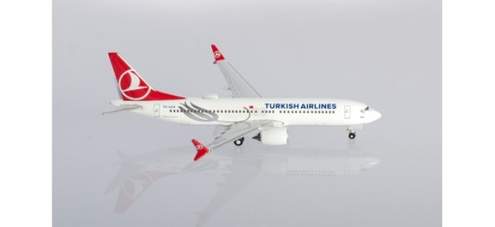 """Turkish Airlines Boeing 737Max8 """"Tokat"""" TC-LCA Herpa Wings 533768 scale 1:500"""