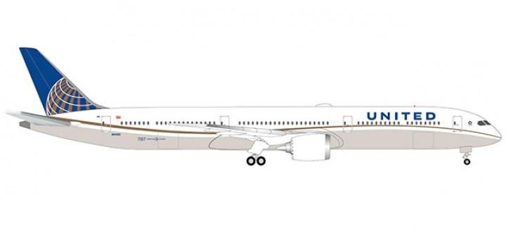 United Airlines Boeing 787-10 Dreamliner Herpa wings 533041 scale 1:500