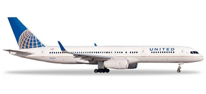 United Boeing 757-200 N34131 Herpa diecast 532846 scale 1:500