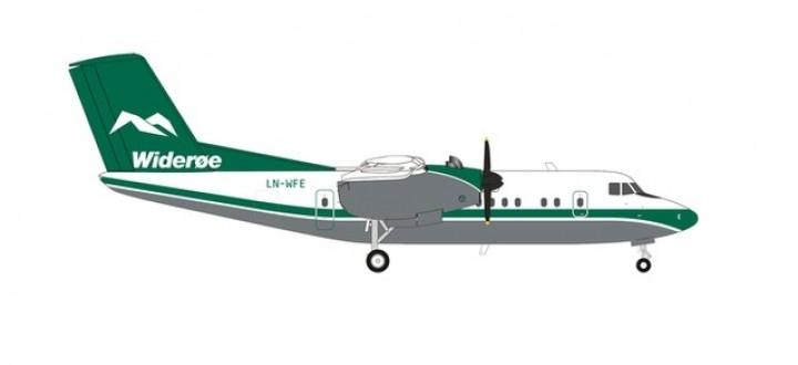 Wideroe De Havilland Canada Havilland Dash 7 DHC-7 LN-WFE Herpa 570565 scale 1:200