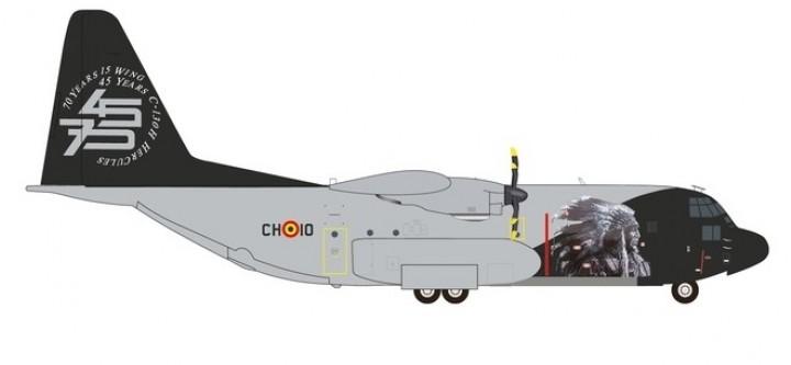 Belgian Air Force C-130 Hercules 45/75 Years Anniversary Herpa 559843 scale 1:200