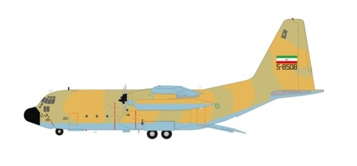 Limited! Iran Air Force C-130 Hercules 5-8508 InFlignt/JFox JF-C130-028 scale 1:200