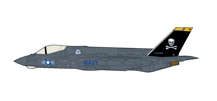 "Jolly Rogers F-35C Carrier ""Pole Test Scheme"" 2012 Hobby Master HA6203 scale 1:72"