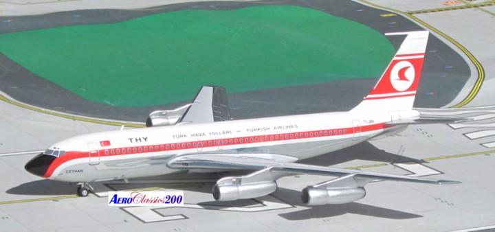 Turkish Airlines THY Boeing 707-138B Reg# TC-JBN Aeroclassics/Western Scale 1:200