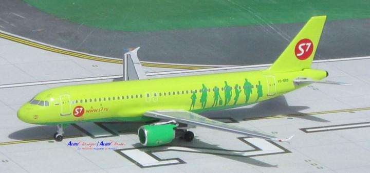 S7 Siberian Airbus A320 Reg# VQ-BRD Aeroclassics Scale 1:400