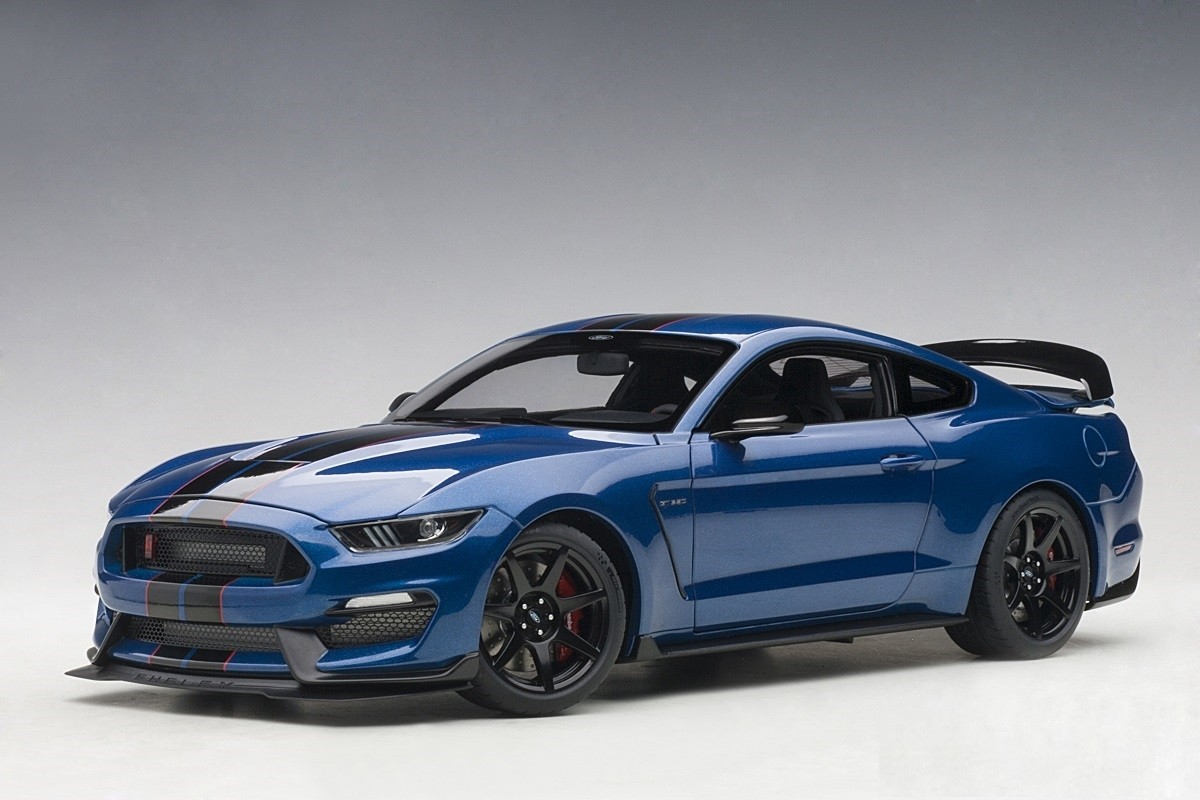 Lightning Blue Mustang >> Lightning Blue Black Stripes Shelby Mustang Gt 350r Black Stripes Autoart 72933 Scale 1 18