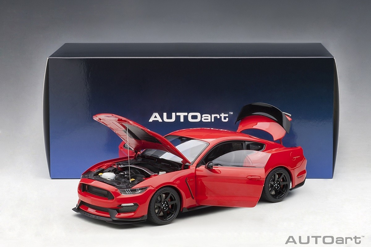 Race Cars For Sale >> Race Red Shelby Mustang GT-350R AUTOart 72935 Scale 1:18 ...