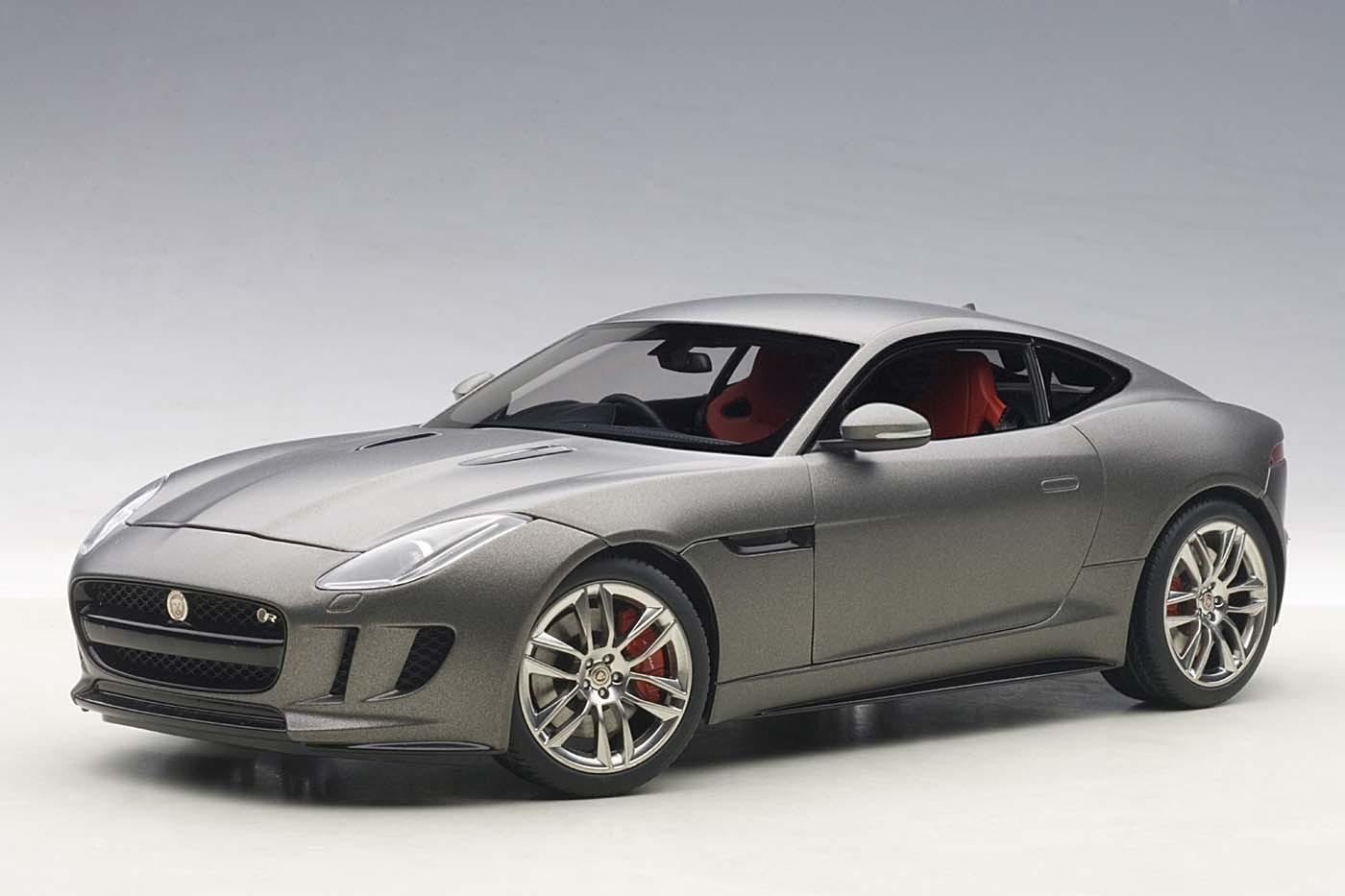 F Type Coupe >> Highly detailed AUTOart diecast model car Jaguar F-Type 2015 R Coupe Matt Grey Die-Cast AUTOart ...